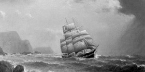 Image of ship in storm